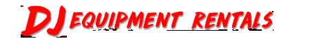 DJ equipment rentals text