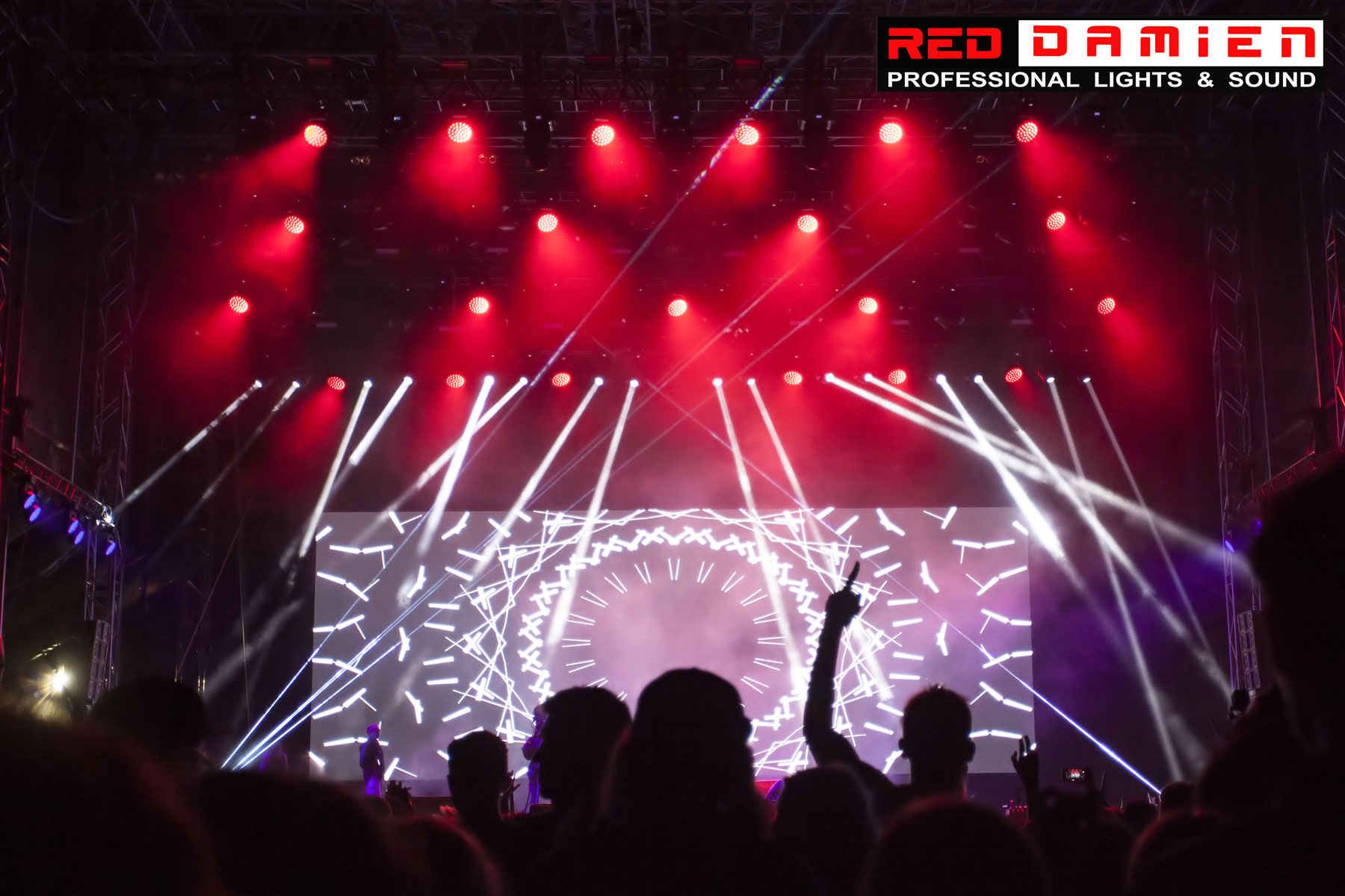Led wall as a stage backdrop red damien professional lights led wall as a stage backdrop aloadofball Gallery