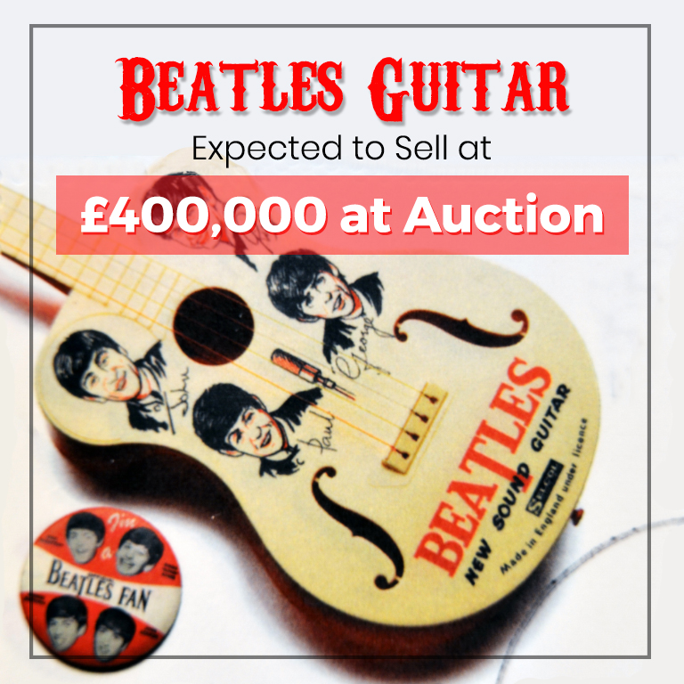 beatles guitar expected to sell at 400 000 at auction blog professional lights sounds. Black Bedroom Furniture Sets. Home Design Ideas